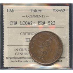 Br. 522. 1837 City Bank Half Penny
