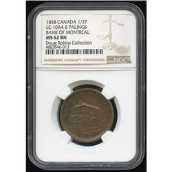Lower Canada, Side View Half Penny, 1838