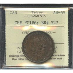 Br. 527. 1844 Province of Canada Half Penny