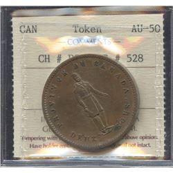 Br. 528. 1852 Quebec Bank Penny
