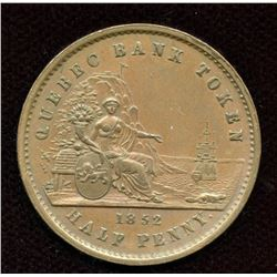Br. 529. 1852 Quebec Bank Halfpenny