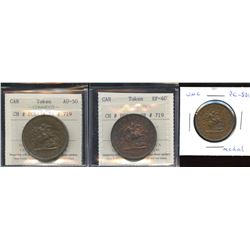 Br. 719 (x2), 720.  A trio of Bank of Upper Canada tokens.