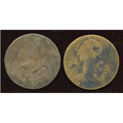 Lot of two Blacksmith Tokens.