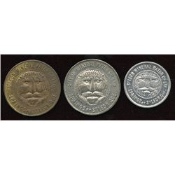 Lot of three Quebec Tokens.