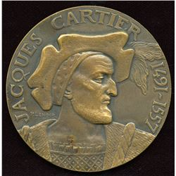 Jacques Cartier Commemorative Canadian Bronze Medal
