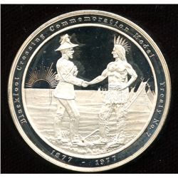 1877-1977 Canada-Blackfoot Crossing Sterling Silver Proof Medal.