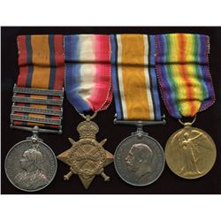 WW1 South Africa Medal Group of 4 to recipient, W.G. Couchman