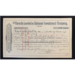 Canada Landed & National Investment Company