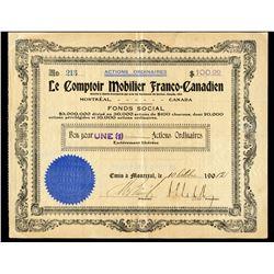 Le Comptoir Mobilier Franco-Canadien