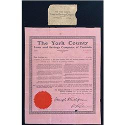 The York County Loan and Savings Company of Toronto
