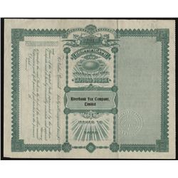 Riverbank Fox Company  Stock Certificate