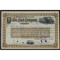 Acadia Coal Co. Ltd. Stock Certificate