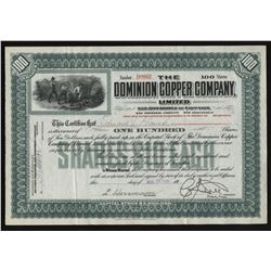 Dominion Copper Co. Stock Certificate