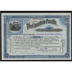 Canadian Pacific Railway Co. Stock Certificate