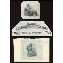 Bank of British North America, die proof vignettes,