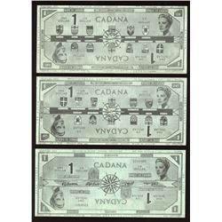 """Cadana"" $1, Reversible Paper Money by Rene LaFlamme, Hull, 1961."