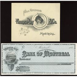 Bank of Montreal, Proof Cheque, 188_