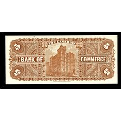 Canadian Bank of Commerce, $5 Type of 1888-1912, Coloured Back Proof