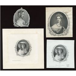 Die Proof Vignettes:  Queen Victoria