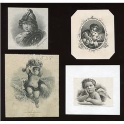 Die Proof Vignettes:  Children and Cherubs.