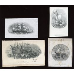 Die Proof Vignettes:  Sailing Ships.