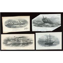 Die Proof Vignettes:Steamships.