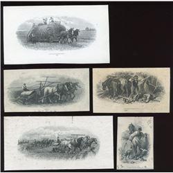 Die Proof Vignettes:Men and Horses.