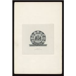 Government Die Proof Vignettes on full card