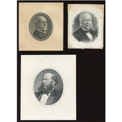 Engraved male portraits: