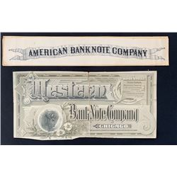 Bank Note Company Advertising.
