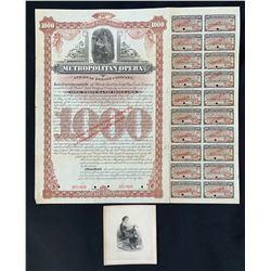 Metropolitan Opera and Real Estate Co., Specimen Bond for $1,000 1893.