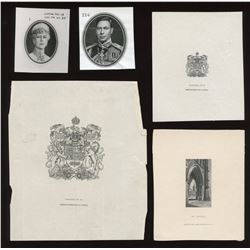 Government Die Proof Vignettes on full card: