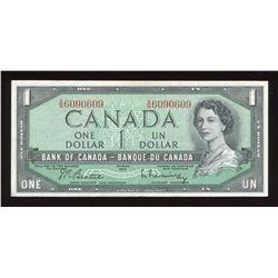 1954 Bank of Canada $1 - Rotator