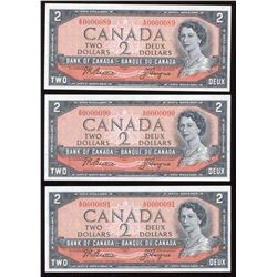 1954 Bank of Canada $2 - Low Serial Numbers