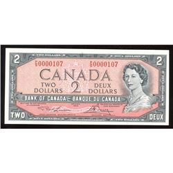 1954 Bank of Canada $2 - Low Serial Number