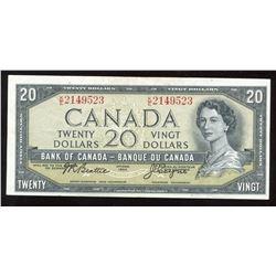 1954 Bank of Canada $20, 1954 - Signature Error