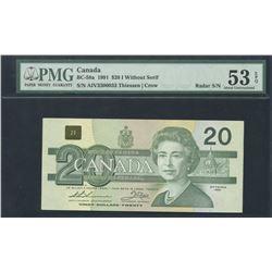 1991 Bank of Canada $20 - Radar Serial Number