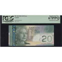 2004 Bank of Canada $20 - Ink Error