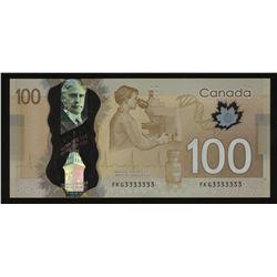 2011 Bank of Canada $100 - Solid Radar