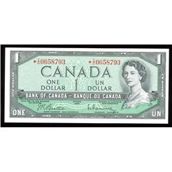 Bank of Canada $1, 1954 - Replacement