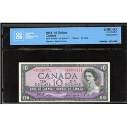 Bank of Canada $10, 1954 *A/D Replacement