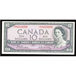 Bank of Canada $10, 1954 - Replacement