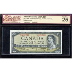 Bank of Canada $20, 1954 - Replacement