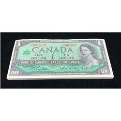 Bank of Canada $1 1967 - Lot of 49 Consecutives