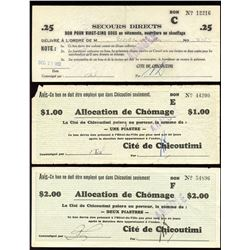 Municipal Depression Scrip - Lot of 6