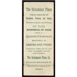 Schumann Piano Advertising Scrip
