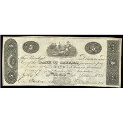Bank of Canada $5, 1 June 1823, Counterfeit