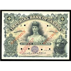 Imperial Bank of Canada $50, 1907 - Specimen