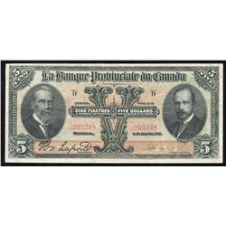 Banque Provinciale de Canada $5, 1919