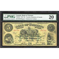 Bank of Toronto $5, 1914